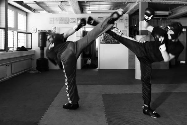 Sparing Kickboxen