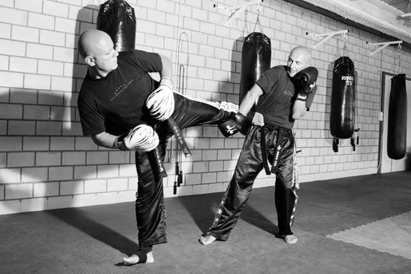 Abwehrtechnik Kickboxen