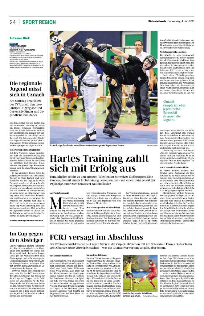 Zeitungsbericht Südostschweiz